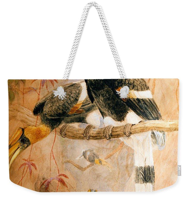 Hornbill Weekender Tote Bags