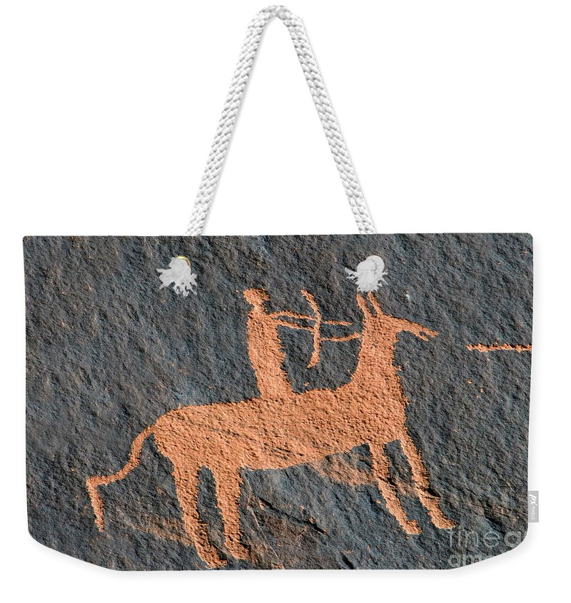 Bow And Arrow Weekender Tote Bag featuring the photograph Horse And Arrow by David Lee Thompson