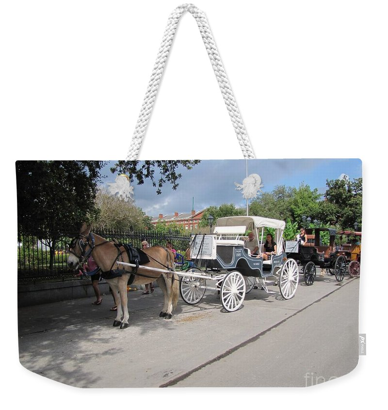 Buggy Rides Weekender Tote Bag featuring the photograph Horse And Buggy by Michelle Powell