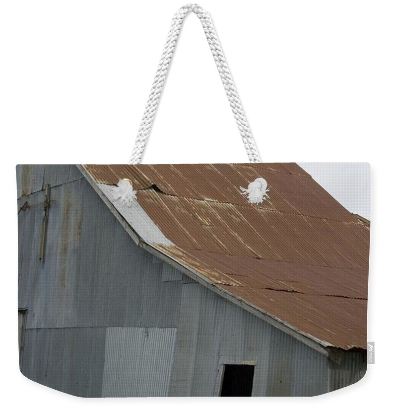 Horse Weekender Tote Bag featuring the photograph Horse In Barn by Sara Stevenson