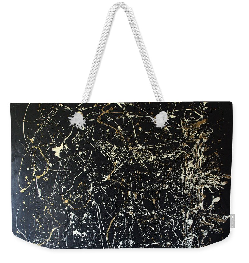 Abstract/impressionist Painting Weekender Tote Bag featuring the mixed media Horse In Pasture by J R Seymour