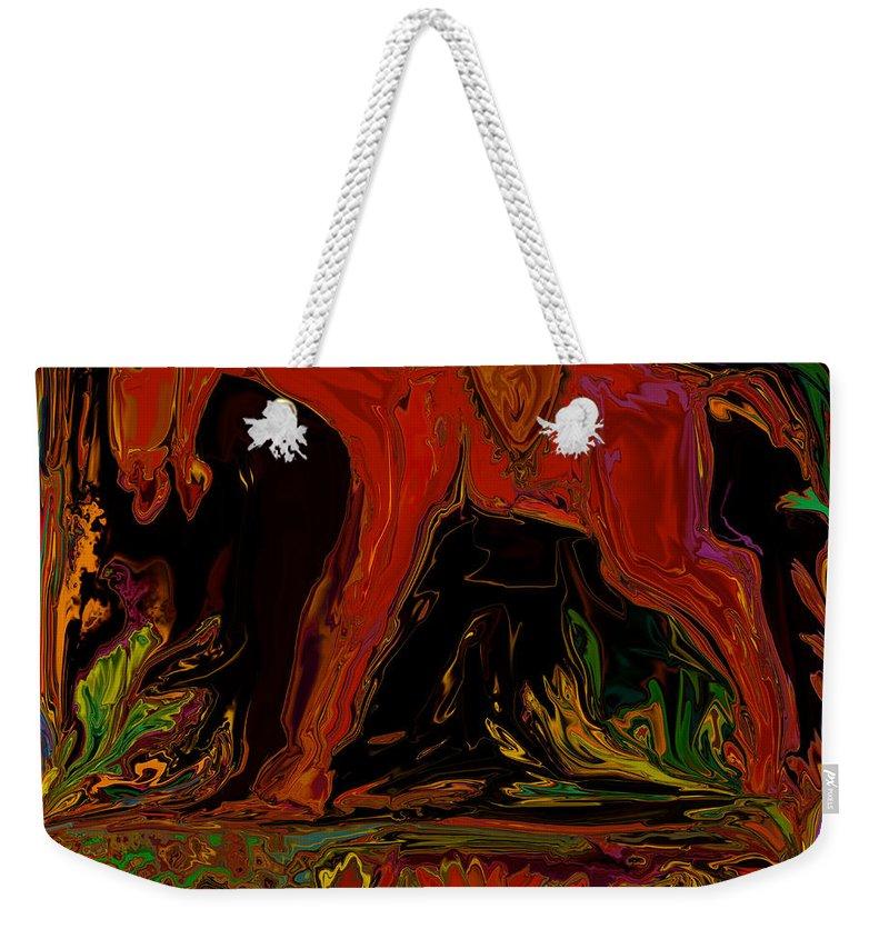 Animal Weekender Tote Bag featuring the digital art Horse by Rabi Khan
