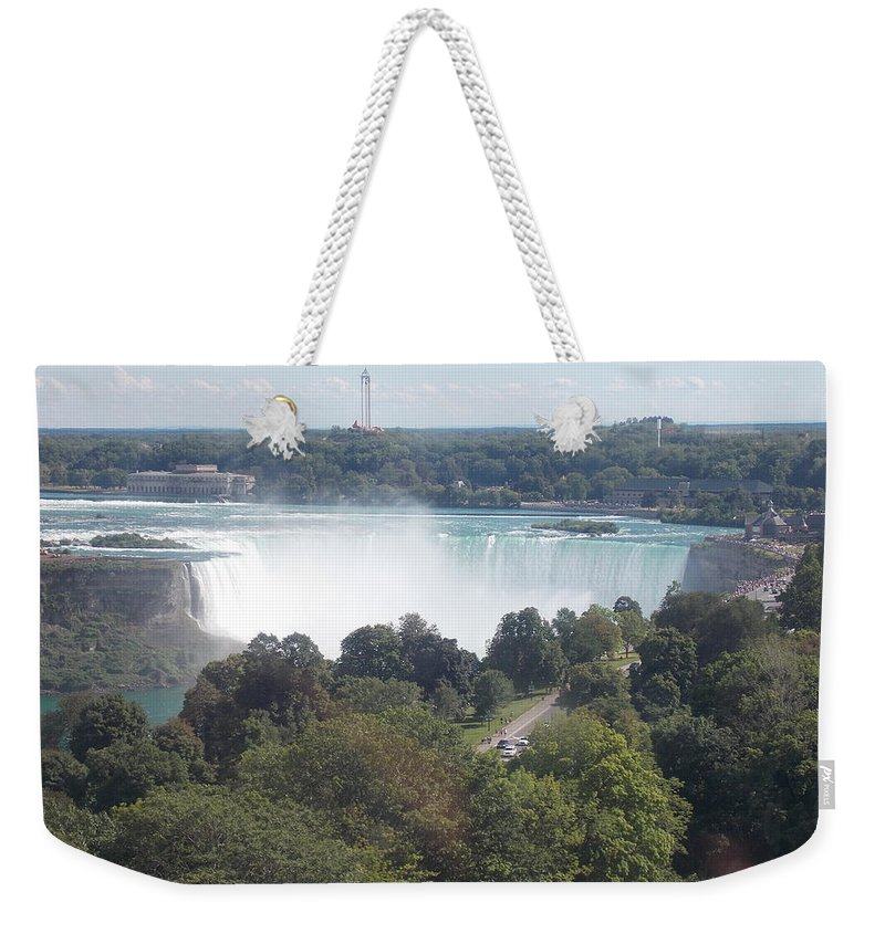 Horseshoe Weekender Tote Bag featuring the photograph Horse Shoe Falls 1 by Nina Kindred