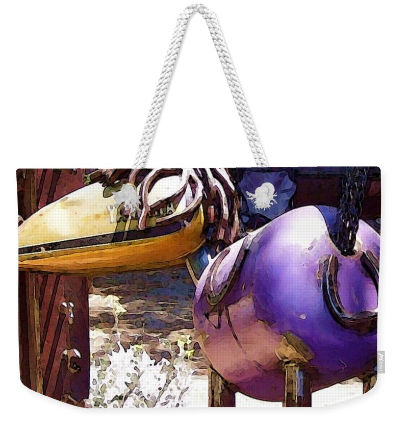Sculpture Weekender Tote Bag featuring the photograph Horse With No Name by Debbi Granruth
