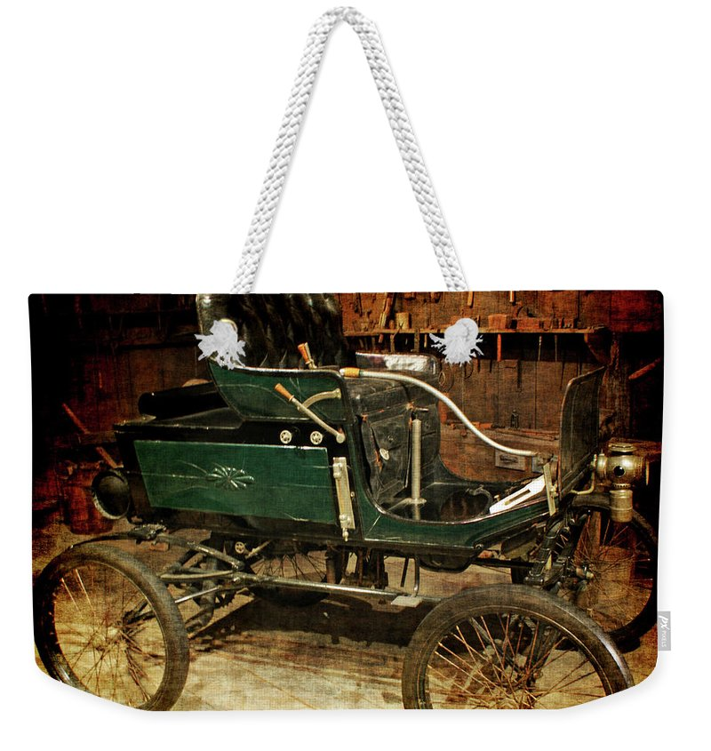 Horseless Carriage Weekender Tote Bag featuring the photograph Horseless Carriage by Ernie Echols