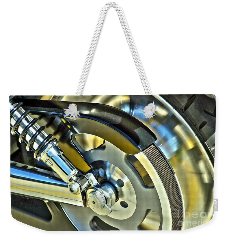Harley Weekender Tote Bag featuring the photograph Horsepower Transfer by Alan Look