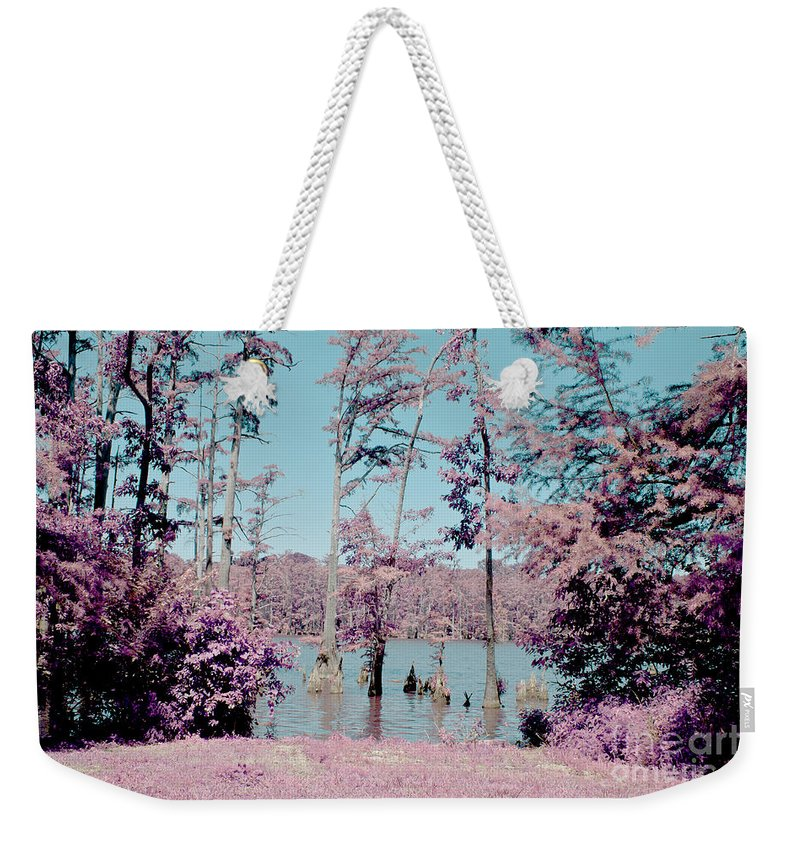 Vacation Weekender Tote Bag featuring the photograph Horseshoe Conservation Area Infrared by Alan Look