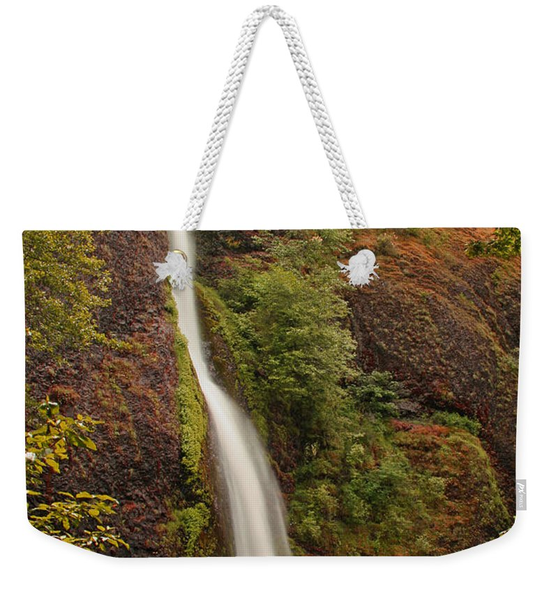 Water Weekender Tote Bag featuring the photograph Horsetail Falls by Ben Zell