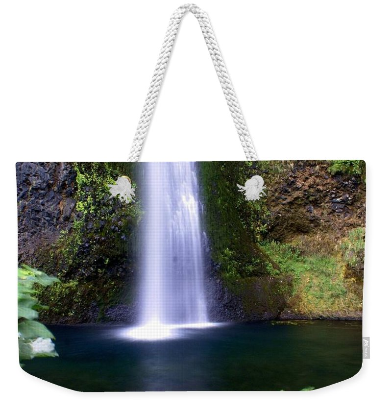 Waterfalls Weekender Tote Bag featuring the photograph Horsetail Falls by Marty Koch