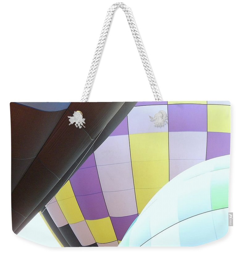 Balloons Weekender Tote Bag featuring the photograph Hot Air Rising by J R Seymour