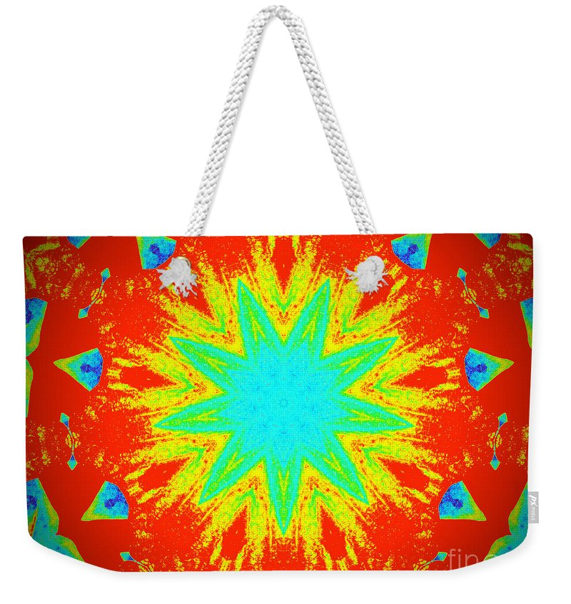 Thermal Weekender Tote Bag featuring the photograph Hot Kaleidoscope Flower by Chad Kroll