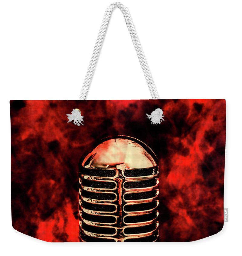 Fire Weekender Tote Bag featuring the photograph Hot Live Show by Jorgo Photography - Wall Art Gallery