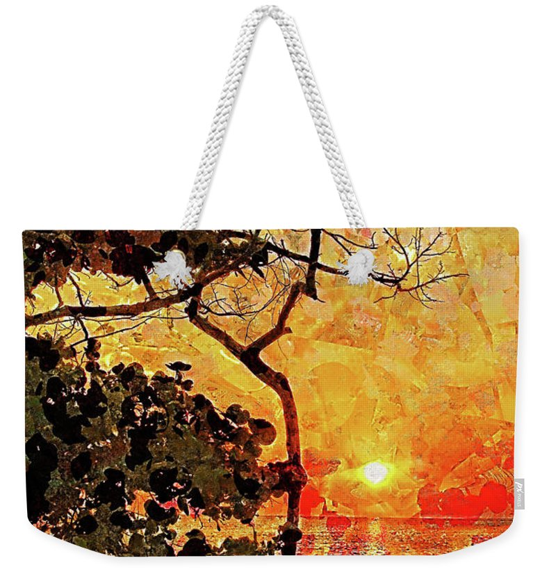 Tropical Sunset Weekender Tote Bag featuring the photograph Hot Night In The Tropics by HH Photography of Florida
