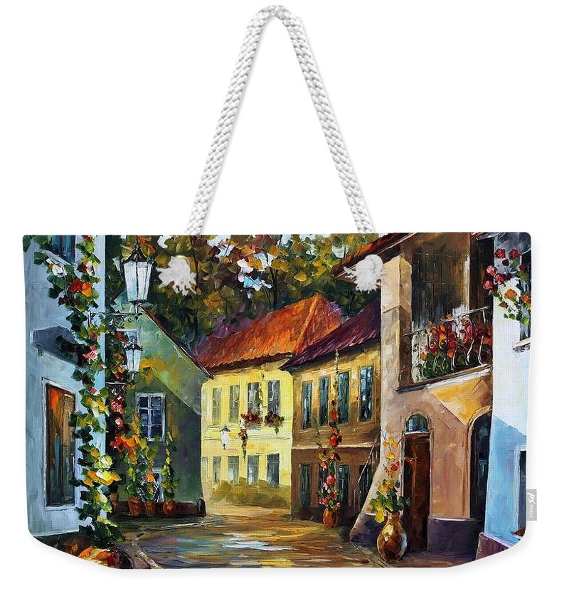 Afremov Weekender Tote Bag featuring the painting Hot Noon by Leonid Afremov