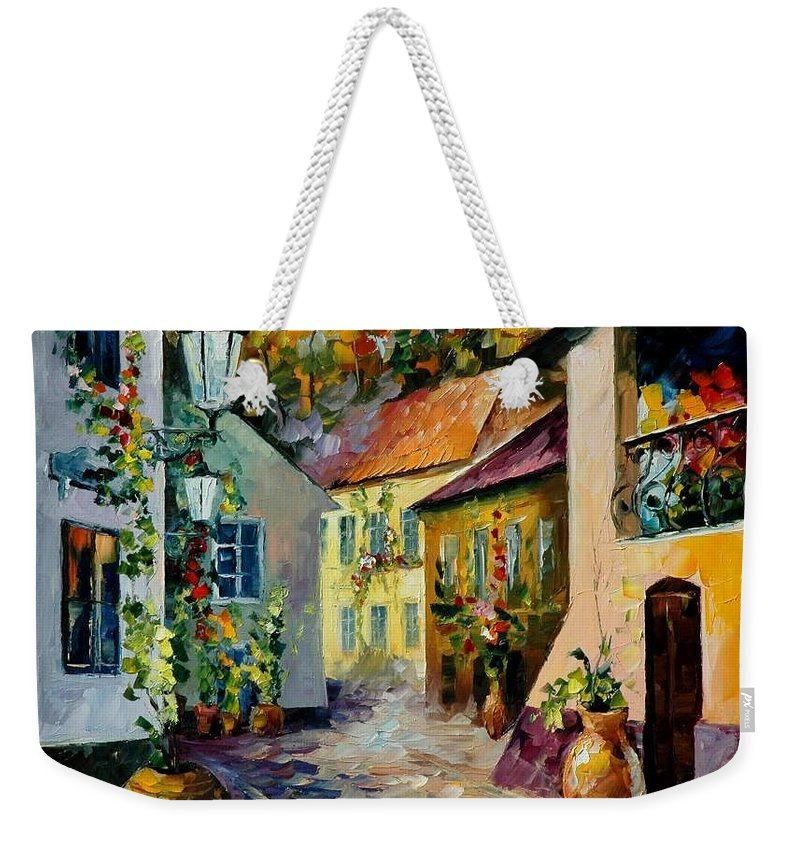 Landscape Weekender Tote Bag featuring the painting Hot Noon Original Oil Painting by Leonid Afremov