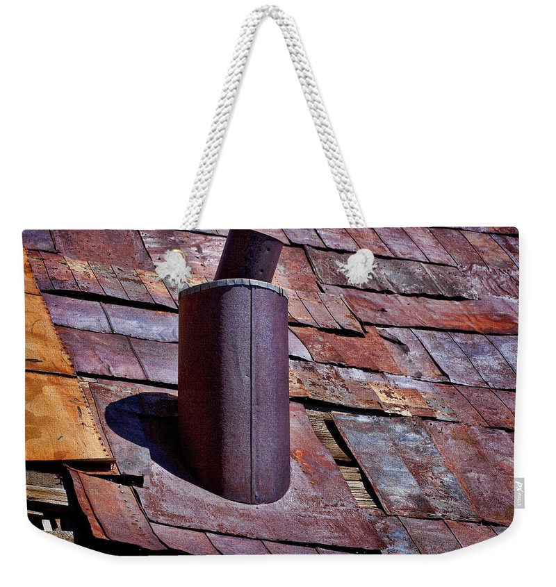 Tin Roof Weekender Tote Bag featuring the photograph Hot Tin Roof by Kelley King