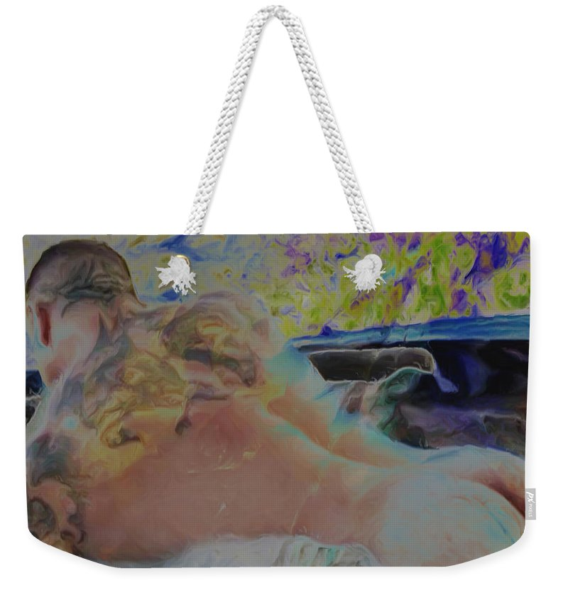 Weekender Tote Bag featuring the painting Hot Tub by Damiano Navanzati