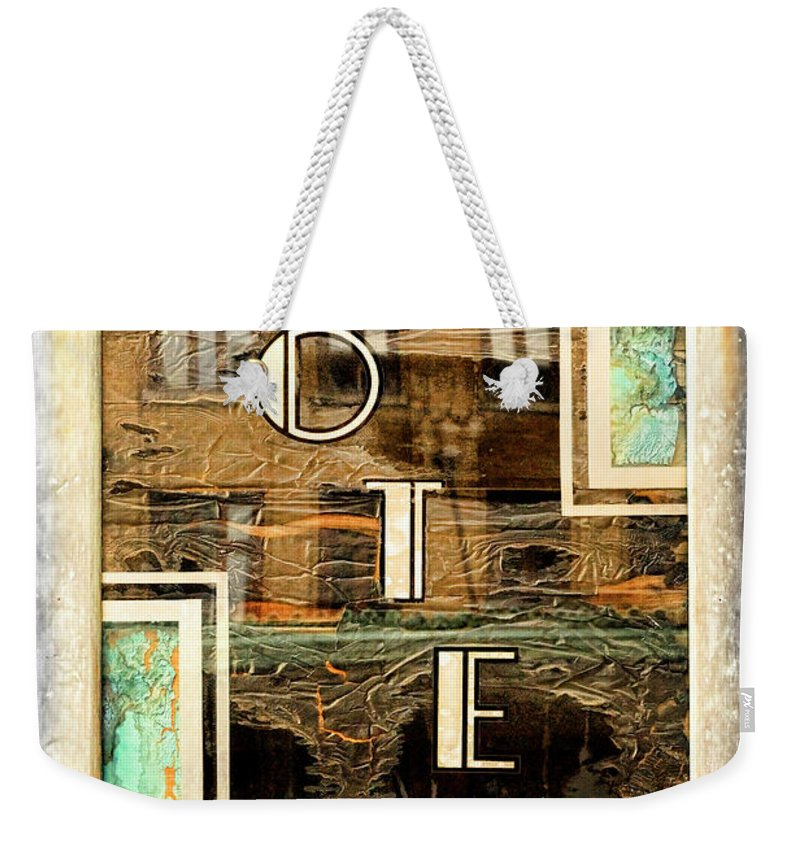 Knoxville Weekender Tote Bag featuring the photograph Hotel by Sharon Popek
