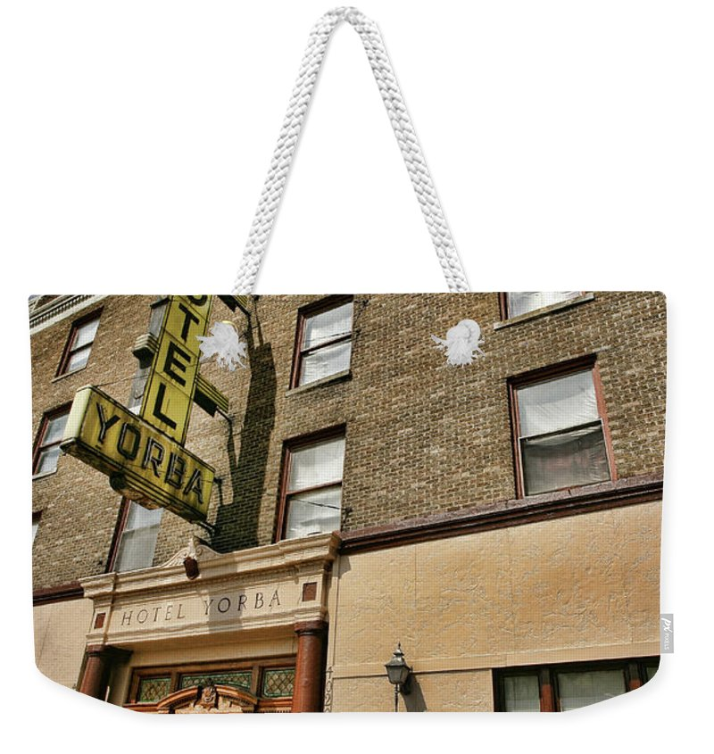 Hotel Yorba Weekender Tote Bag featuring the photograph Hotel Yorba by Gordon Dean II