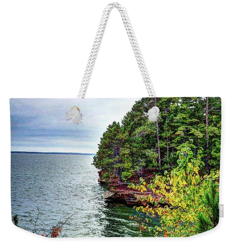 National Weekender Tote Bag featuring the photograph Houghton Falls by Deborah Klubertanz
