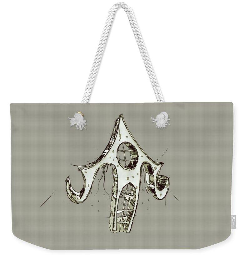 Weekender Tote Bag featuring the digital art House 3 by Iris Ogli