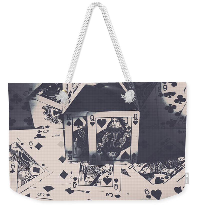 Cards Weekender Tote Bag featuring the photograph House Of Cards by Jorgo Photography - Wall Art Gallery