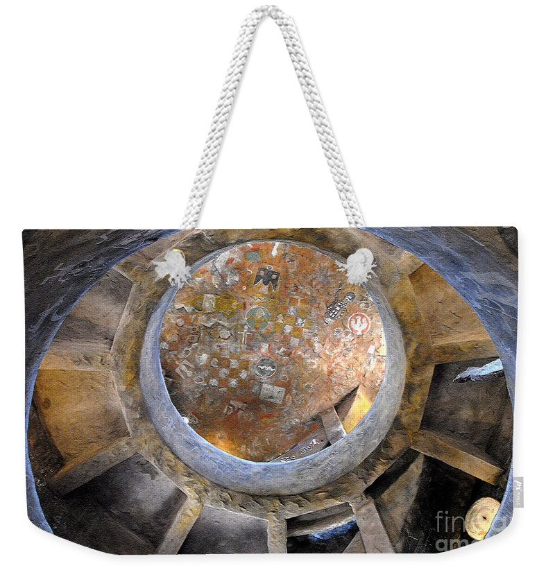 Hopi Weekender Tote Bag featuring the photograph House Of The Hopi by David Lee Thompson