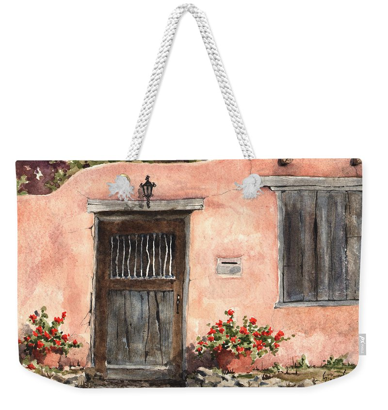 House Weekender Tote Bag featuring the painting House On Delgado Street by Sam Sidders