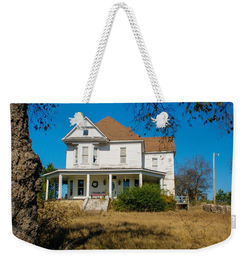 House Weekender Tote Bag featuring the photograph House On The Hill by Douglas Barnett