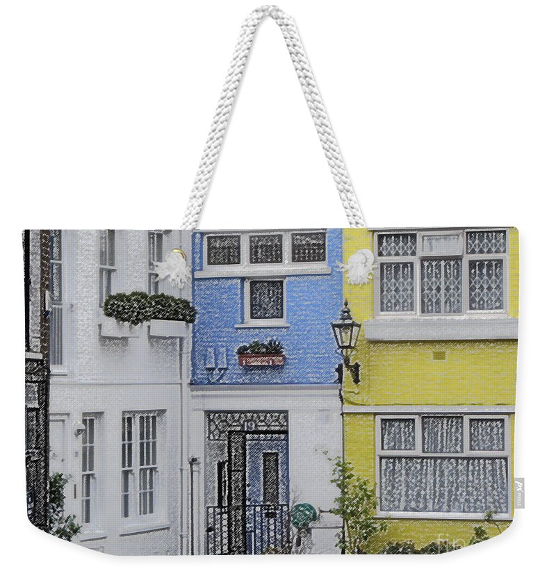 House Weekender Tote Bag featuring the photograph Houses by Amanda Barcon