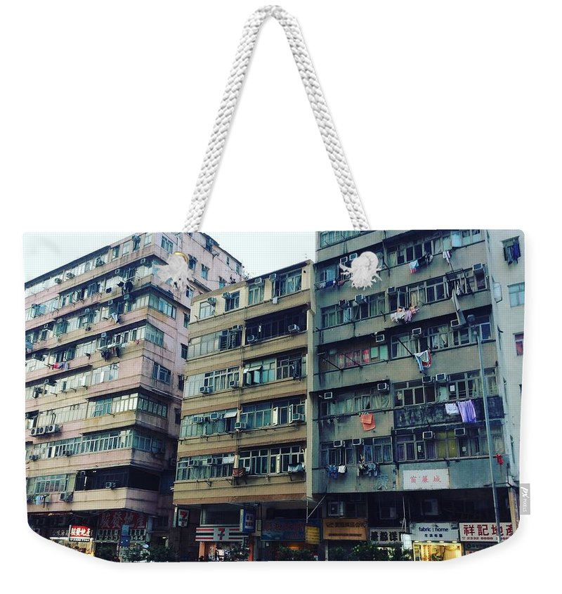 Hongkong Weekender Tote Bag featuring the photograph Houses of Kowloon by Florian Wentsch