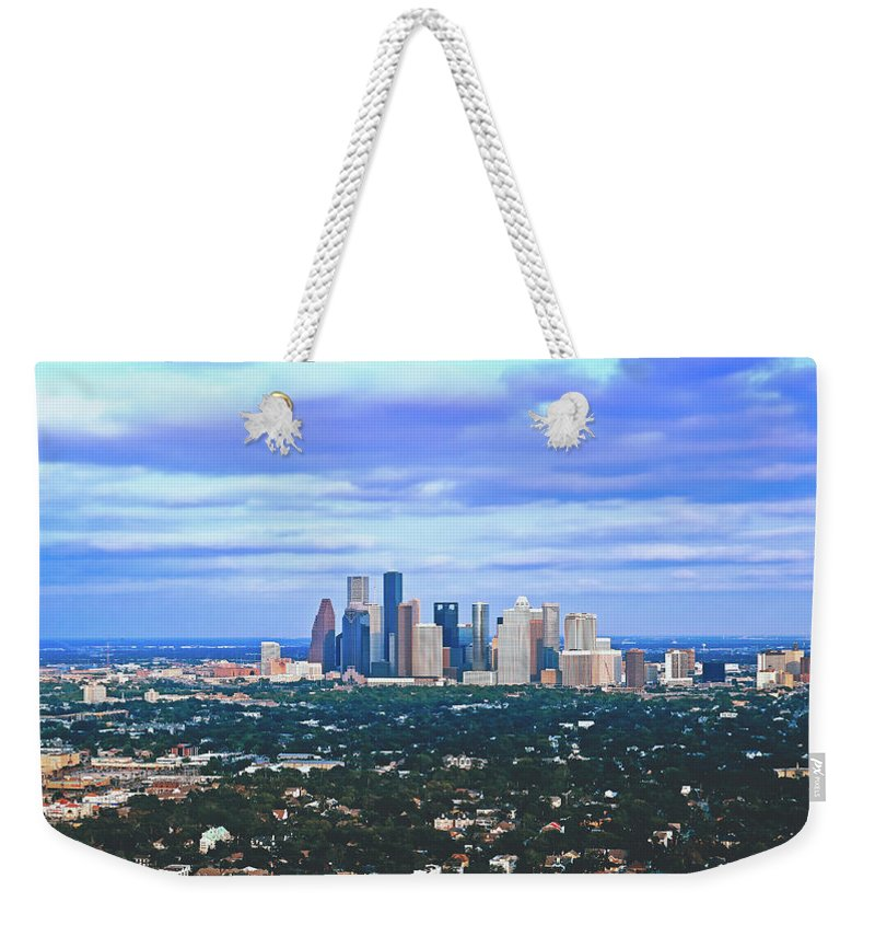 Houston Weekender Tote Bag featuring the photograph Houston 1980s by Library Of Congress