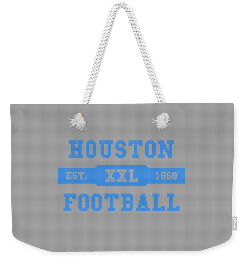 Oilers Weekender Tote Bag featuring the photograph Houston Oilers Retro Shirt by Joe Hamilton