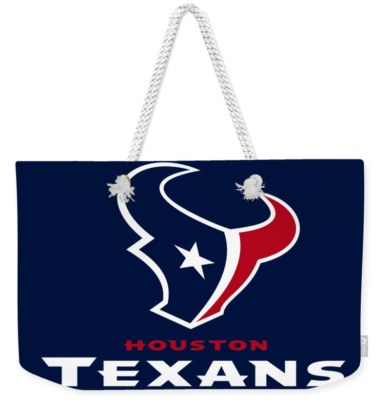 Houston Texans Weekender Tote Bag featuring the photograph Houston Texans by Mitro Dente