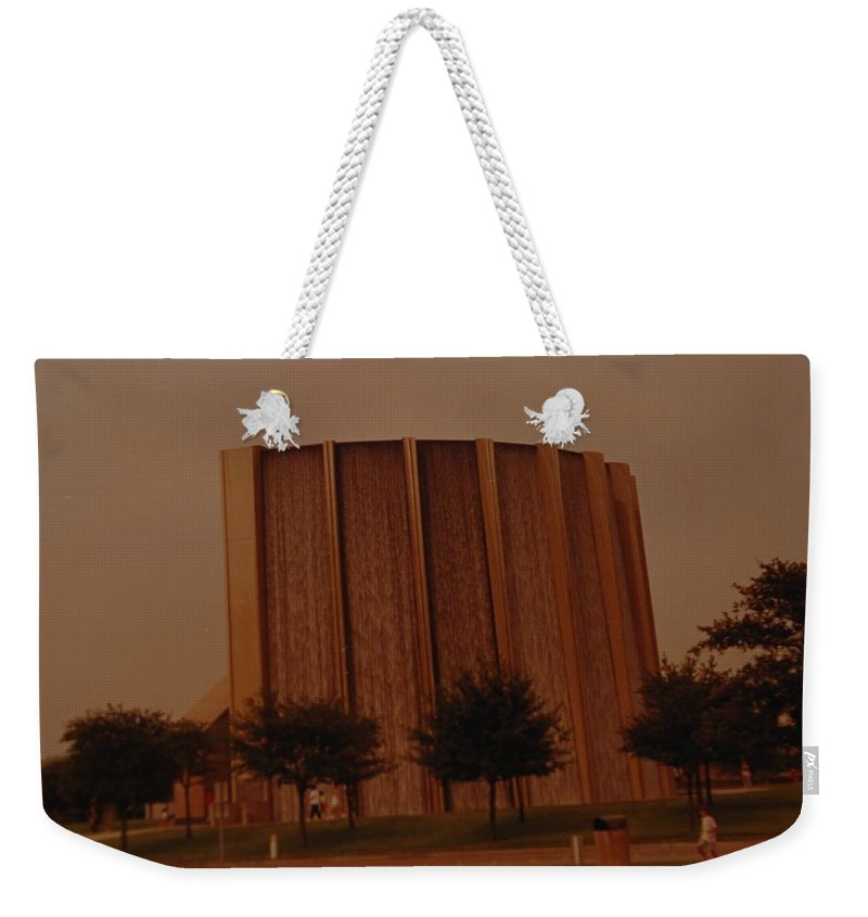 Water Weekender Tote Bag featuring the photograph Houston Waterfall by Rob Hans