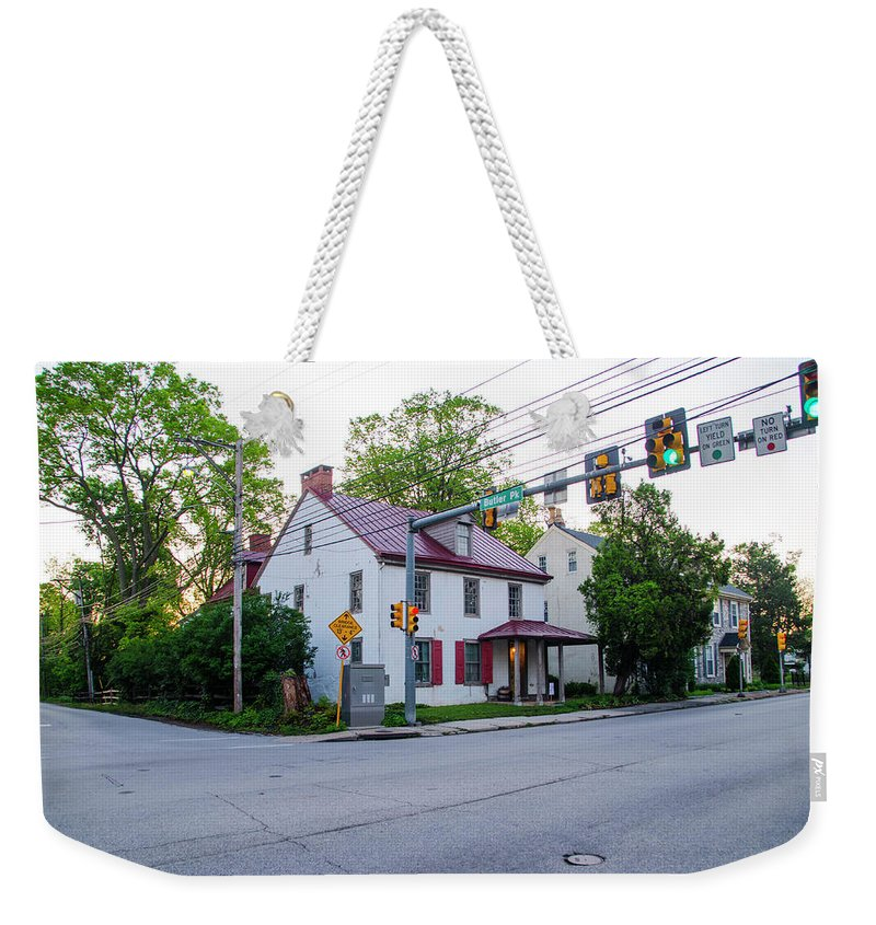 George Weekender Tote Bag featuring the photograph Hovenden House - Plymouth Meeting Pa by Bill Cannon