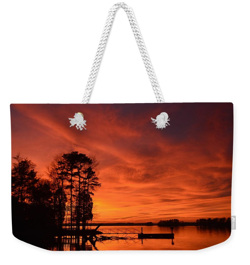 Sunsets Weekender Tote Bag featuring the photograph How Awesome Is He by Lisa Wooten