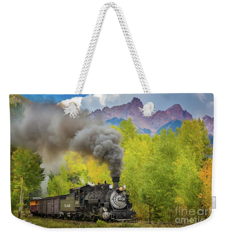 America Weekender Tote Bag featuring the photograph Huffing And Puffing by Inge Johnsson