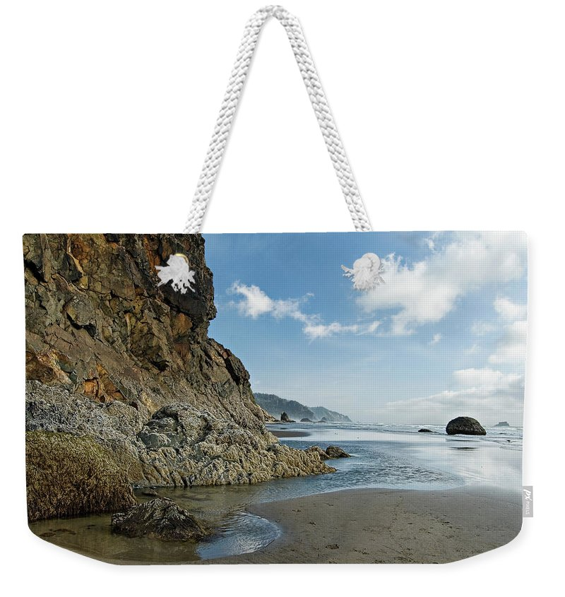 Oregon Weekender Tote Bag featuring the photograph Hug Point Beach by Renee Hong