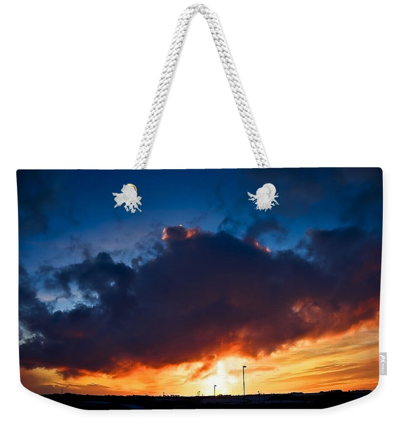 Dawn Weekender Tote Bag featuring the photograph Huge Dusk Cloud by Svetlana Sewell