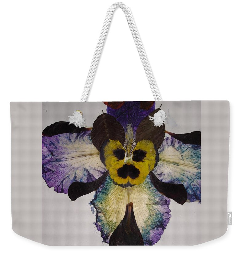 Flower-vision Weekender Tote Bag featuring the mixed media Human Insect by Basant Soni