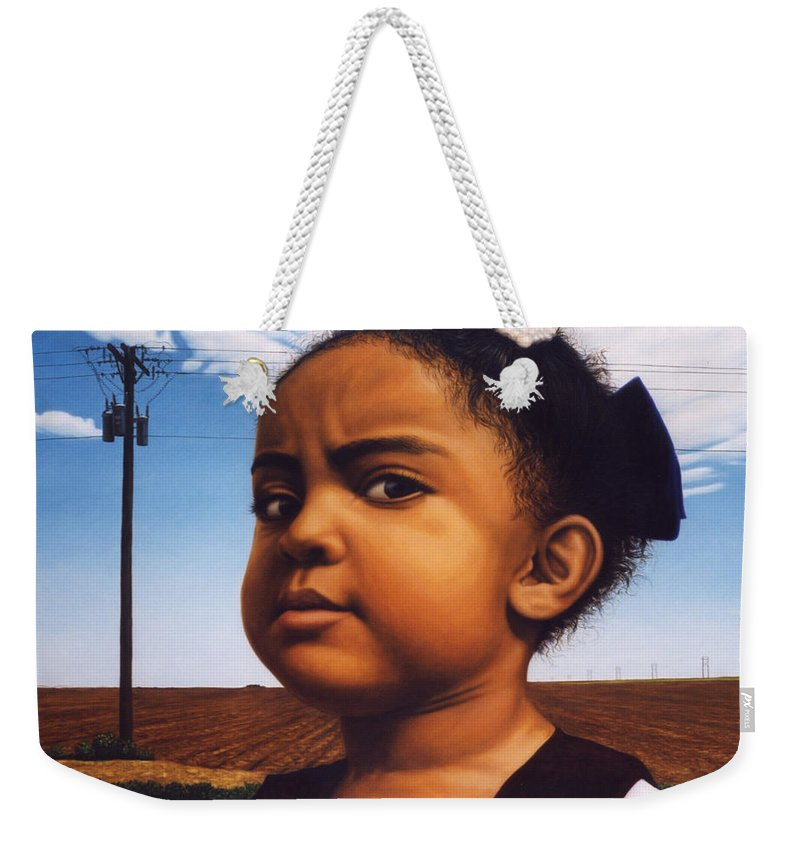 Baby Weekender Tote Bag featuring the painting Human-nature Number Thirteen by James W Johnson