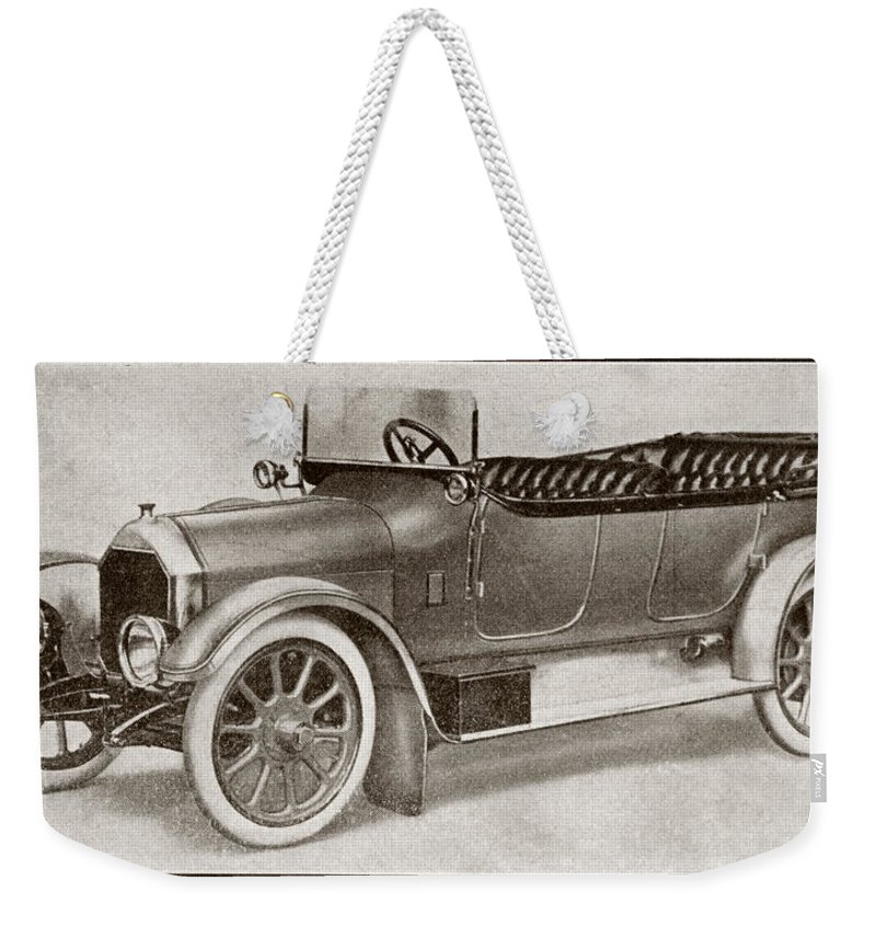 Auto Weekender Tote Bag featuring the drawing Humber 14 Hp Model Of 1914. From La by Vintage Design Pics