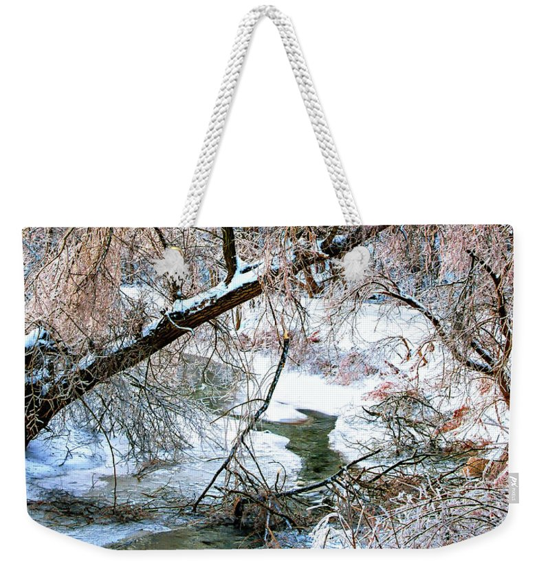 Steve Harrington Weekender Tote Bag featuring the photograph Humber River Winter 3 by Steve Harrington