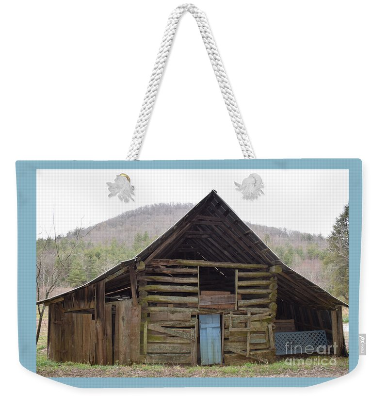 Barn Weekender Tote Bag featuring the photograph Humble Cross by Davis FlowerPower