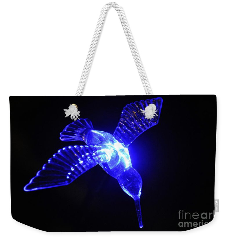 Clay Weekender Tote Bag featuring the photograph Humming Bird Light by Clayton Bruster