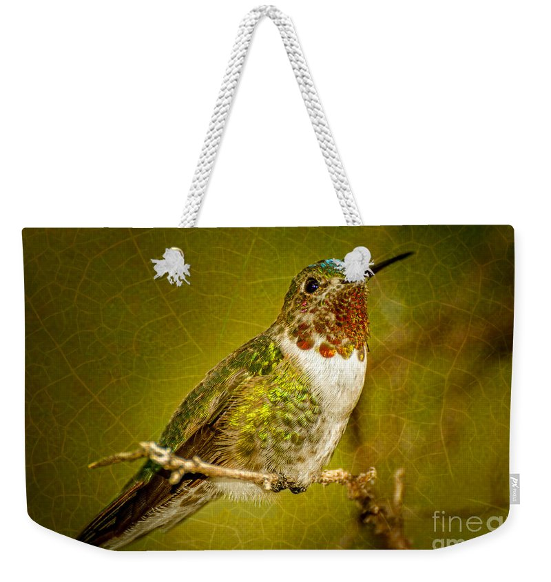Hummingbird Weekender Tote Bag featuring the photograph Hummingbird 1 by Larry White
