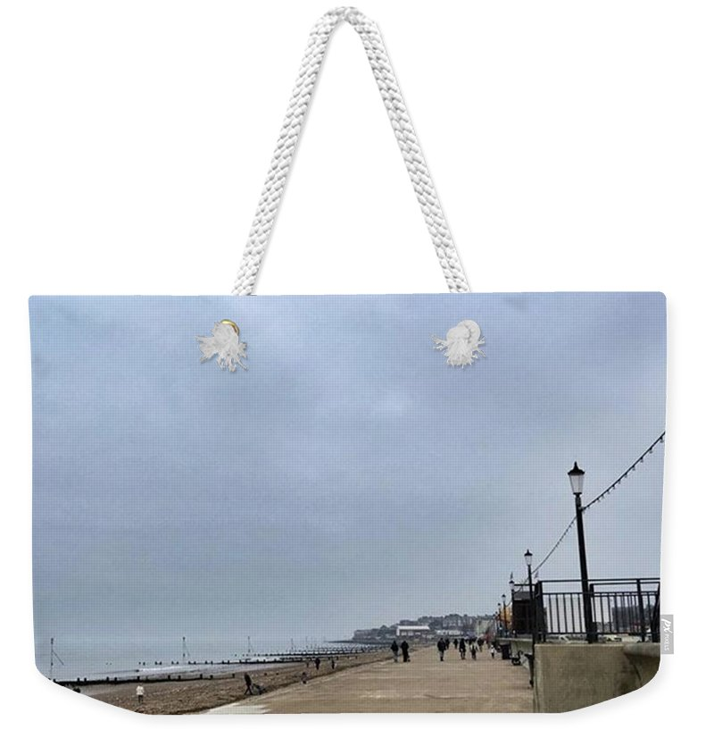 Beautiful Weekender Tote Bag featuring the photograph Hunstanton At 4pm Yesterday As The by John Edwards