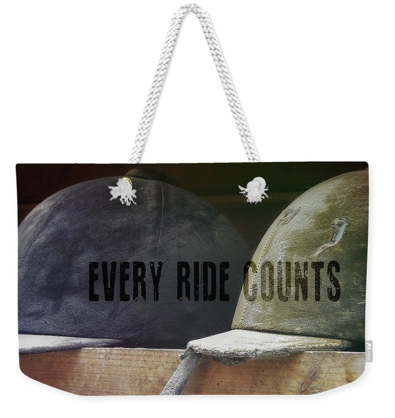 Horse Weekender Tote Bag featuring the photograph Hunt Caps Quote by JAMART Photography