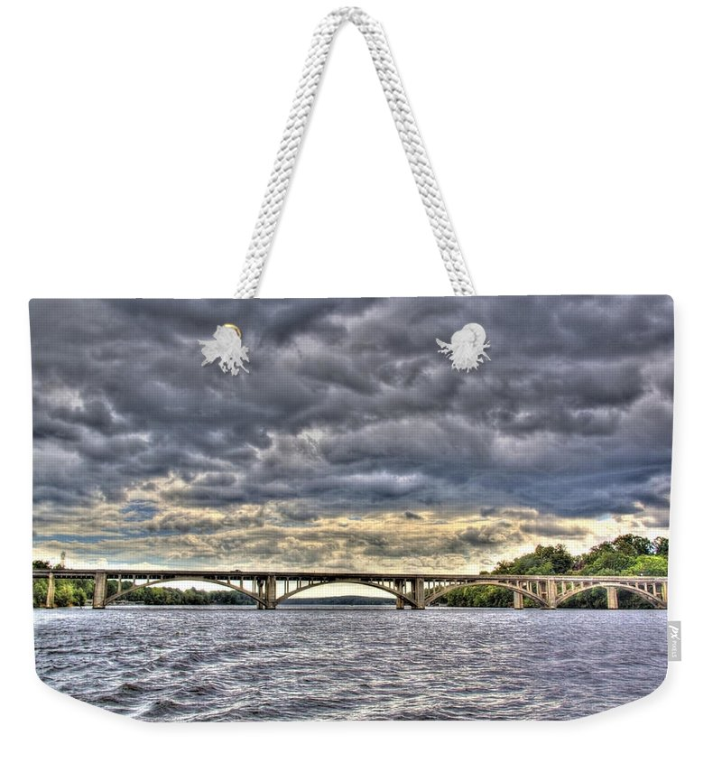 Lake Tillery Weekender Tote Bag featuring the photograph Hurricane Irene On Tillery by Jackie Frick Smith